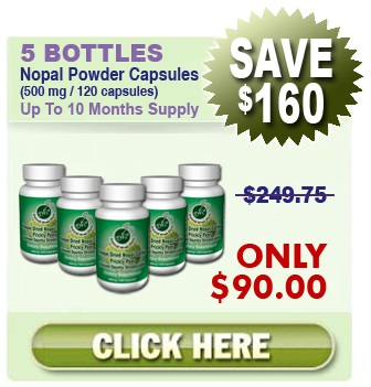 Existing Client Special - 5 Bottles Nopal (120 caps / 500 mg)