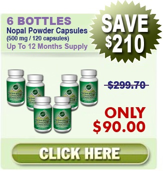 Natural Home Cures Freeze Dried Nopal Powder Capsules 6 Bottles Nopal Capsules